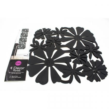 Panou decorativ din plastic - model floral 4buc/Set [0]