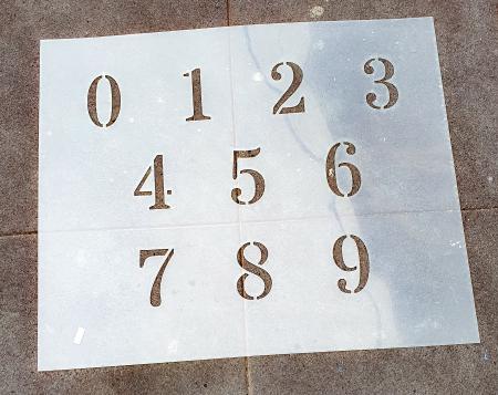 Sabloane decorative pentru pictura - Cifre 0-9 [0]