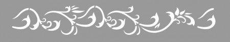 Sablon Refolosibil Repetitiv Bordura Ramuri Damask 470*87mm - SP79-5 [0]