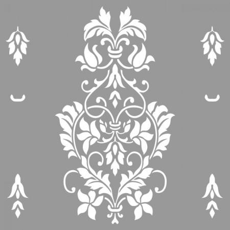 Sablon Refolosibil Repetitiv Flower Damask 590*590mm - SP83 [3]
