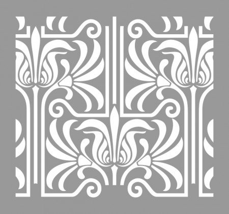 Sablon Refolosibil Repetitiv Lines Damask 590*550mm - SP81 [3]