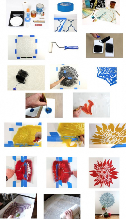 Set 5 Șabloane decorative pentru pictat pereți [1]