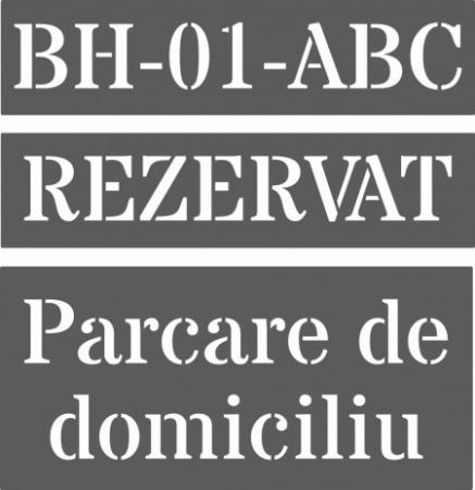 Set 3 Sabloane Refolosibile Parcare Domiciliu [0]
