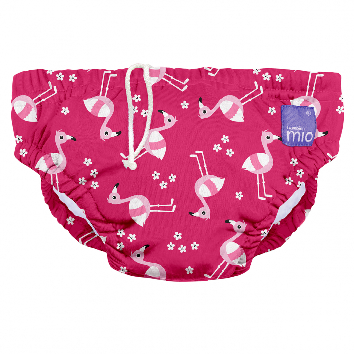 BAMBINO MIO REUSABLE SWIM NAPPY, PINK FLAMINGO, EXTRA LARGE (2+ YEARS) 0