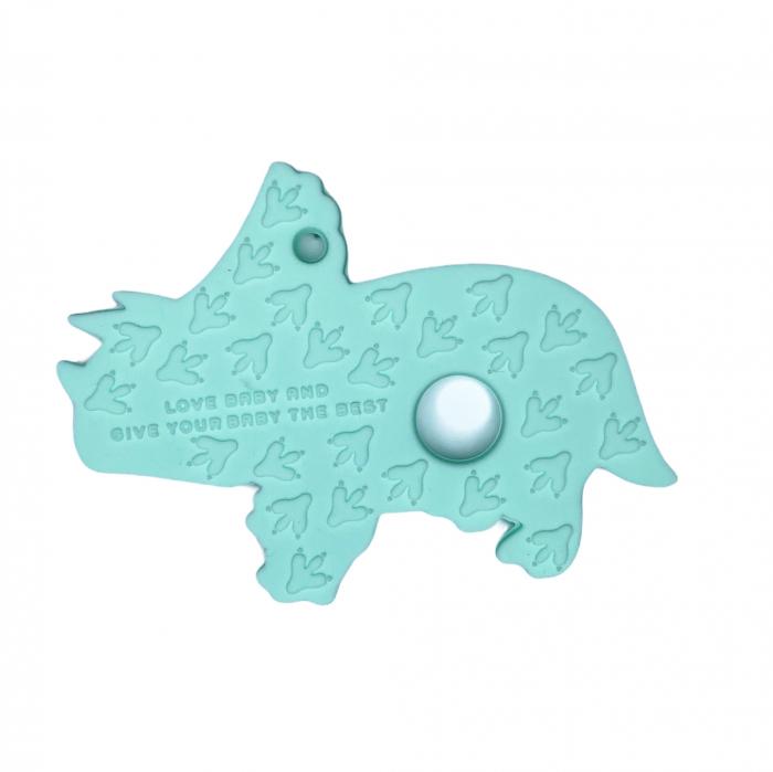 Jucărie pentru dentiție din silicon - raton maro [5]