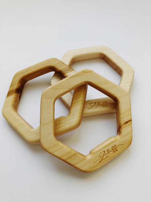 Jucarie dentitie din lemn de tei 1