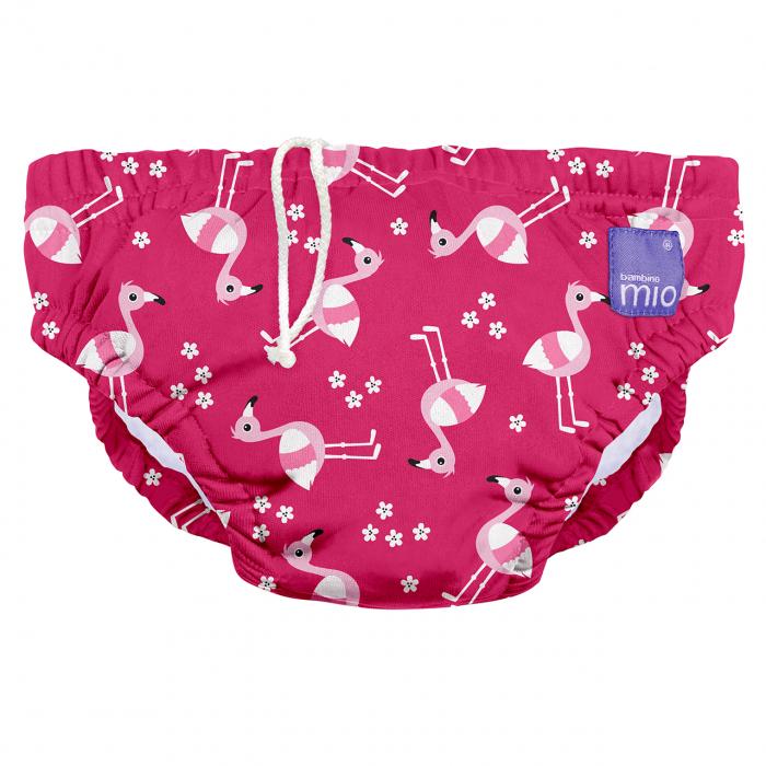 Scutec pentru inot refolosibil - Bambino Mio Marimea L Pink Flamingo [0]