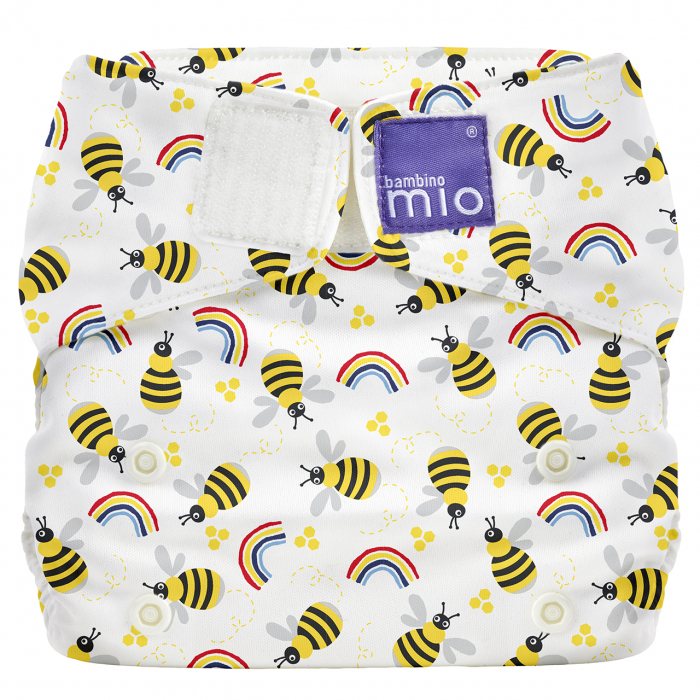 BAMBINO MIO MIOSOLO ALL-IN-ONE REUSABLE NAPPY, HONEYBEE HIVE 0