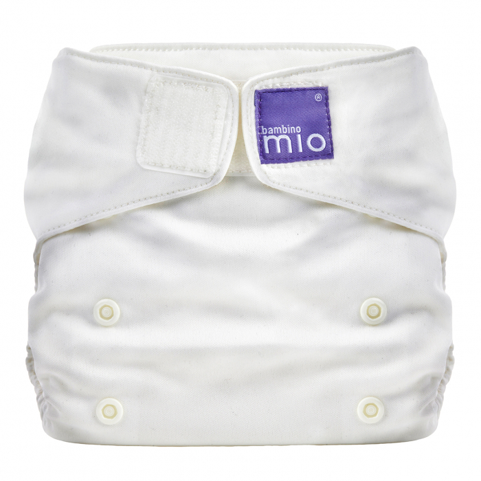 BAMBINO MIO MIOSOLO ALL-IN-ONE REUSABLE NAPPY, MARSHMALLOW (WHITE) 0