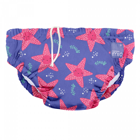 BAMBINO MIO REUSABLE SWIM NAPPY, MERMAID, EXTRA LARGE (2+ YEARS)2