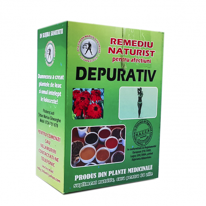 Ceai depurativ Tirban Marius - Fitoterapeut 0