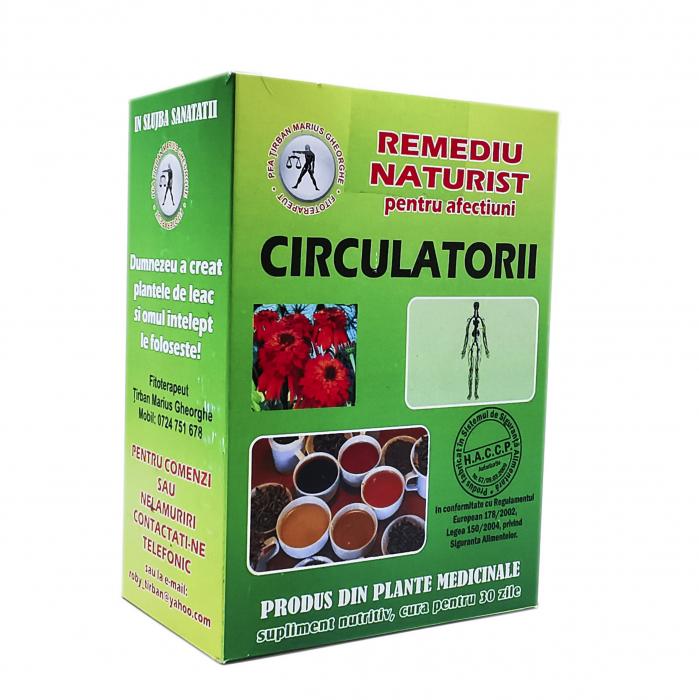 ceaiul pentru afectiuni circulatorii de la Tirban Marius - Fitoterapeut 0