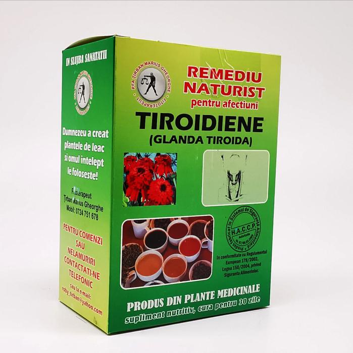 Ceai pentru afectiuni tiroidiene (glanda tirioda) Tirban Marius - Fitoterapeut 0