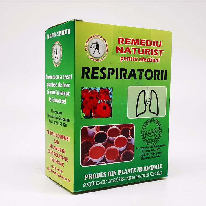 Ceai pentru afectiuni respiratorii Tirban Marius Fitoterapeut 0