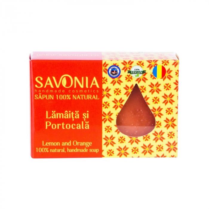 Sapun natural lamaita si portocala Savonia 1