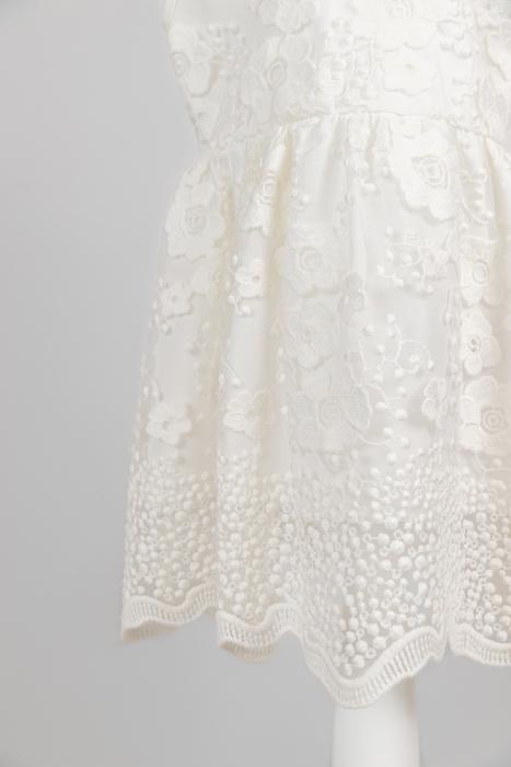 Rochie albă elegantă pentru fete [2]