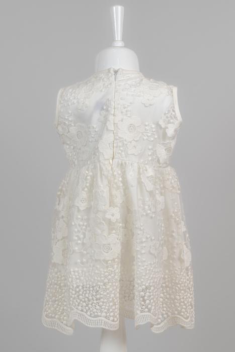Rochie albă elegantă pentru fete [3]