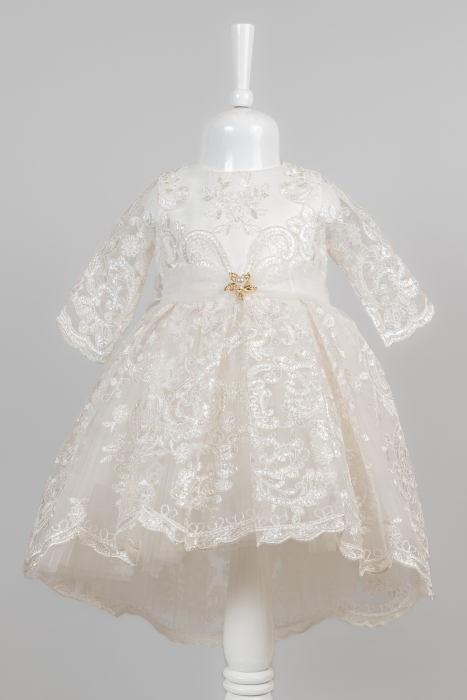 Rochie elegantă de lux pentru fetițe pentru botez [0]