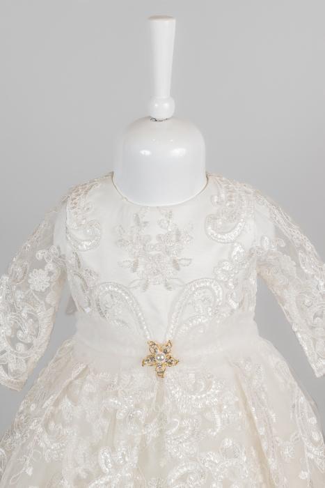 Rochie elegantă de lux pentru fetițe pentru botez [1]