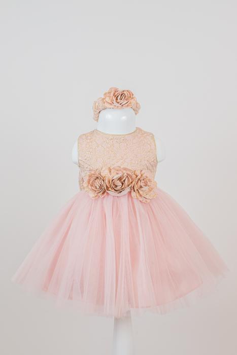 Set rochiță elegantă Dalia din tulle și tafta [0]