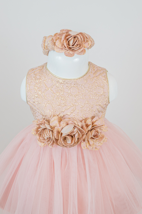 Set rochiță elegantă Dalia din tulle și tafta [1]