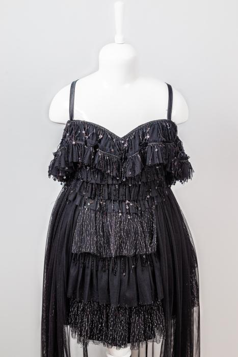 Rochiță neagră elegantă modernă pentru fetiță [1]