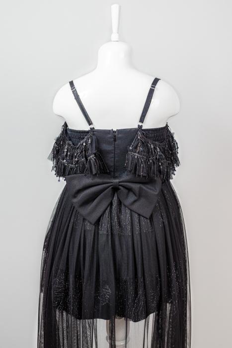 Rochiță neagră elegantă modernă pentru fetiță [3]