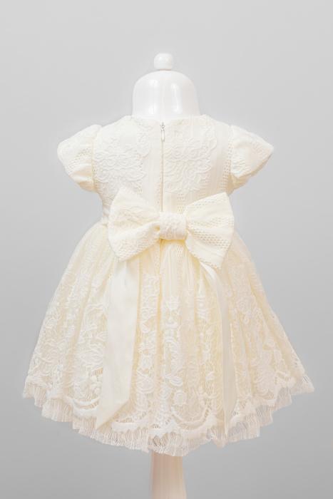 Set rochiță botez Cielo din dantelă [2]