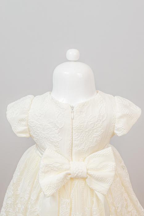 Set rochiță botez Cielo din dantelă [3]