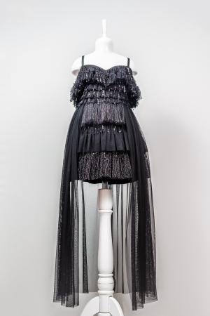 Rochiță neagră elegantă modernă pentru fetiță [0]