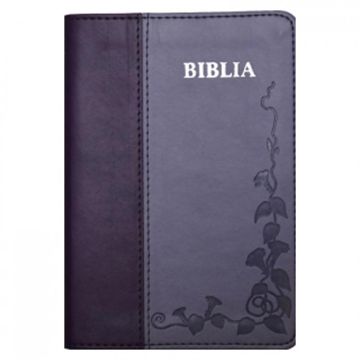 Biblia sau Sfânta Scriptură cu trimiteri, traducere Dumitru Cornilescu - foarte mica, mov [0]