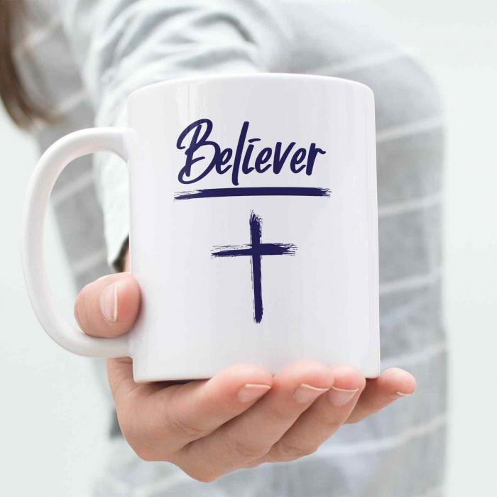 Cana cu mesaj crestin - Believer [3]