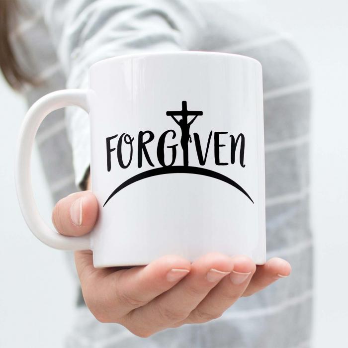 Cana cu mesaj creștin Forgiven [2]