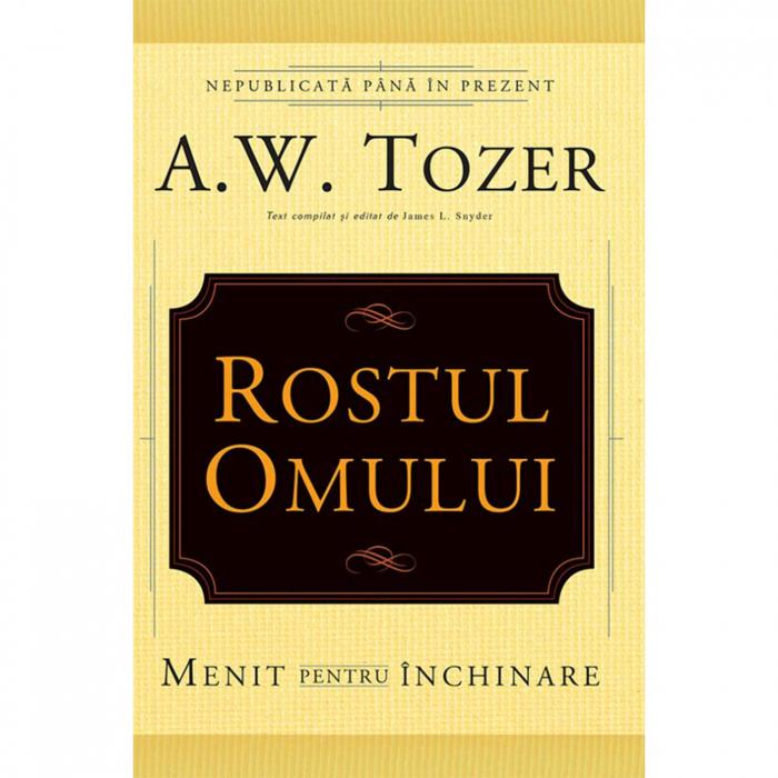 Carti Tozer - Rostul omului. Menit pentru închinare [0]