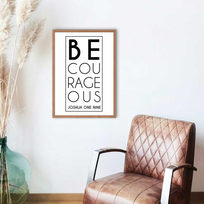 Tablou cu mesaj creștin - Be Courageous [1]