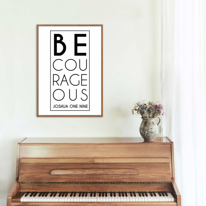 Tablou cu mesaj creștin - Be Courageous [2]