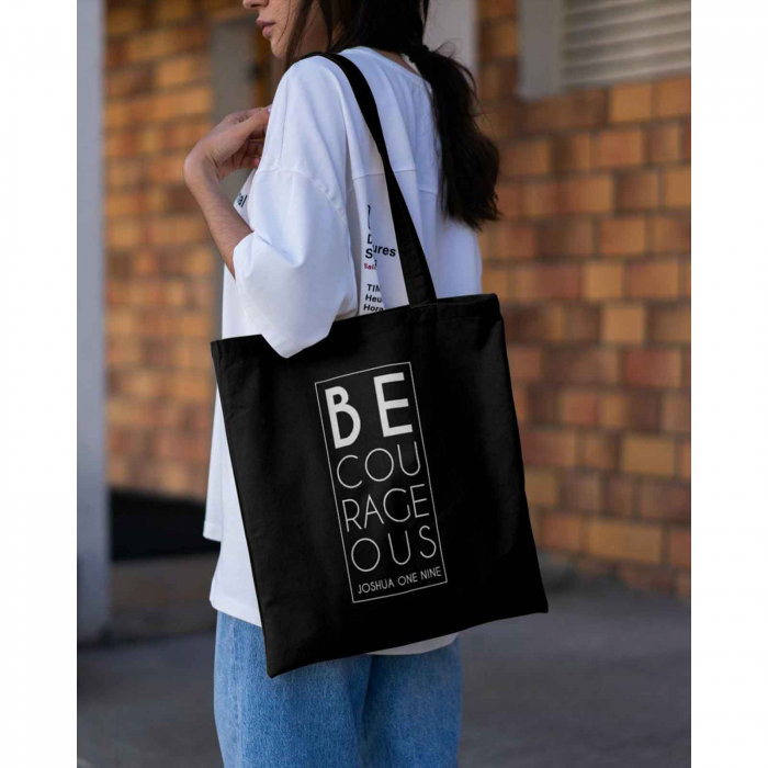 Tote Bag cu mesaj creștin Be Courageous [3]