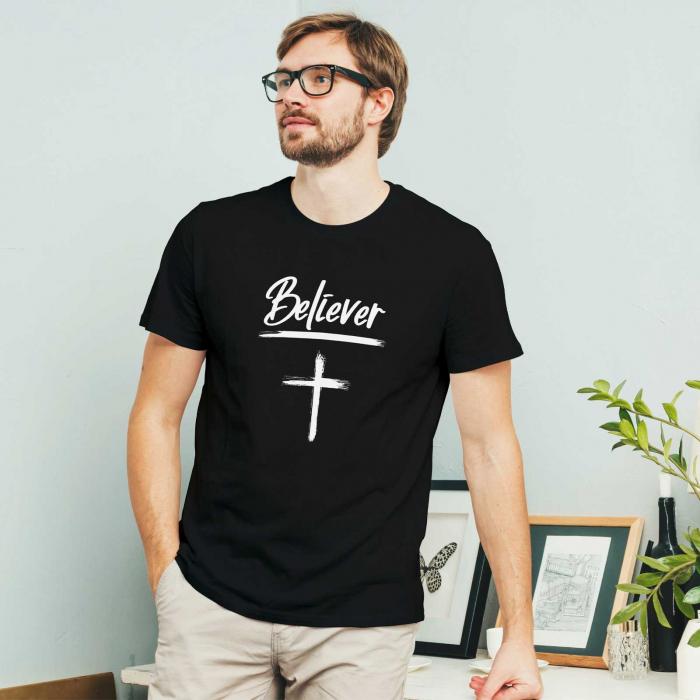 Tricou cu mesaj creștin Believer [1]