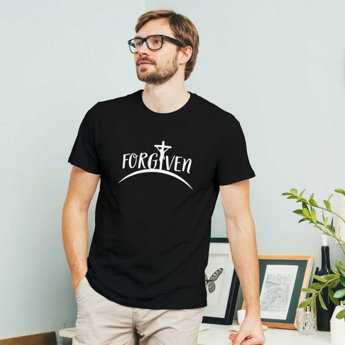 Tricou personalizat cu mesaj creștin Forgiven [1]
