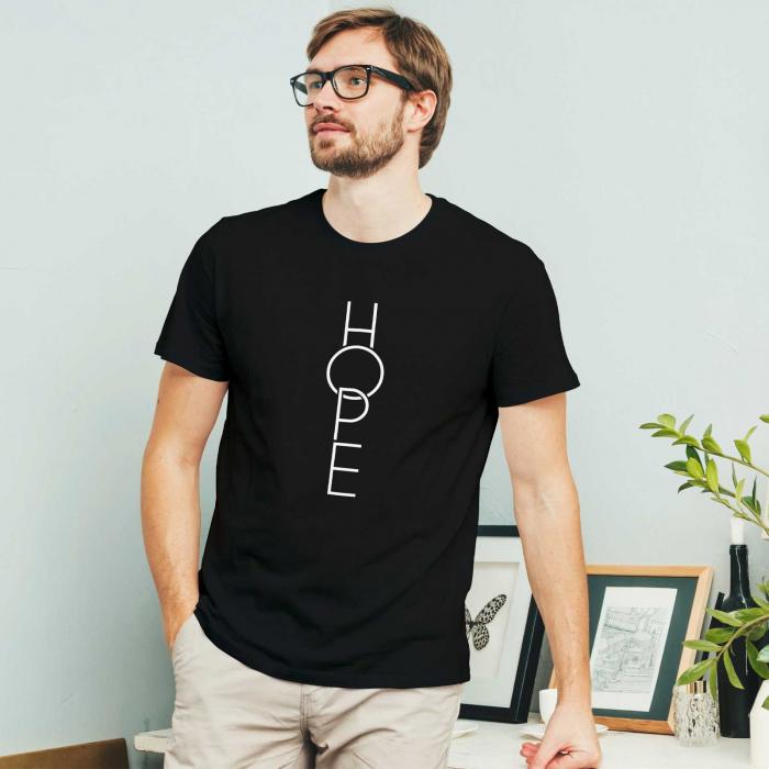 Tricou cu mesaj creștin Hope [1]