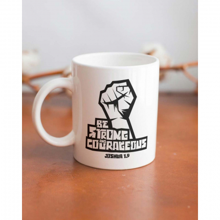 Cana ceramica Be strong and courageous [3]