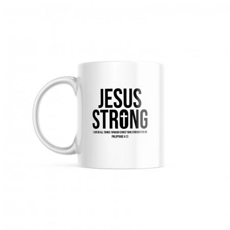 Cană cu mesaj creștin Jesus Strong [0]