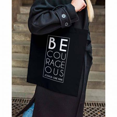 Tote Bag cu mesaj creștin Be Courageous [4]