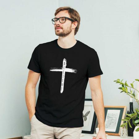Tricou cu mesaj creștin Believe - Cross [1]