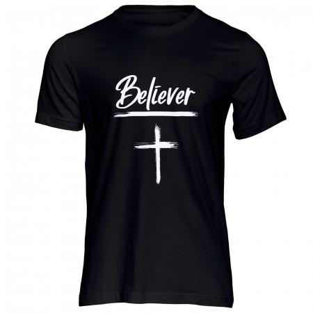Tricou cu mesaj creștin Believer [0]
