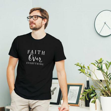 Tricou cu mesaj creștin Faith Over Everything [1]