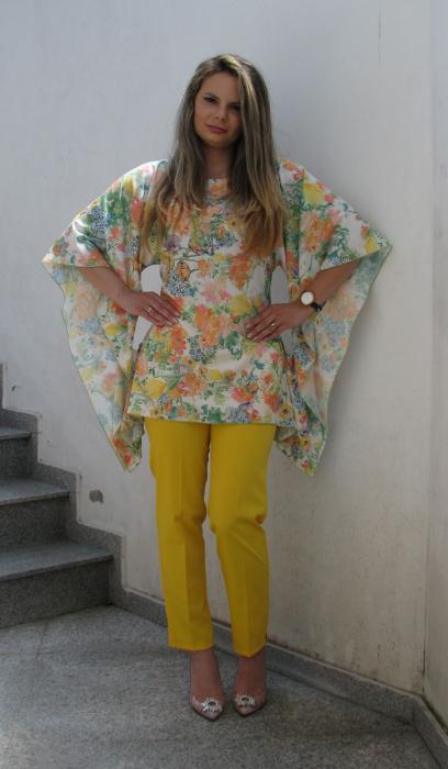 Bluza Bella, flori galbene [1]