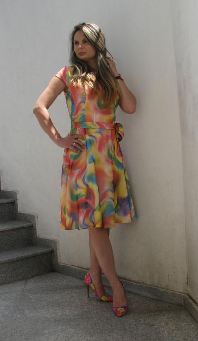 Rochie Cora, galben cu roz [1]