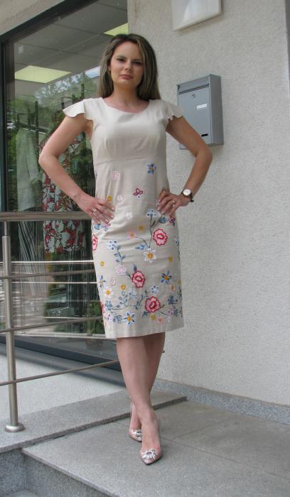 Rochie Iulia, broderie flori [0]