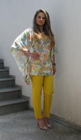 Bluza Bella, flori galbene [2]